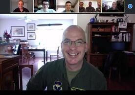 Col Driggers, Det 009 Alumni, and Det 009 cadets at the Sheppard AFB Virtual Base Visit